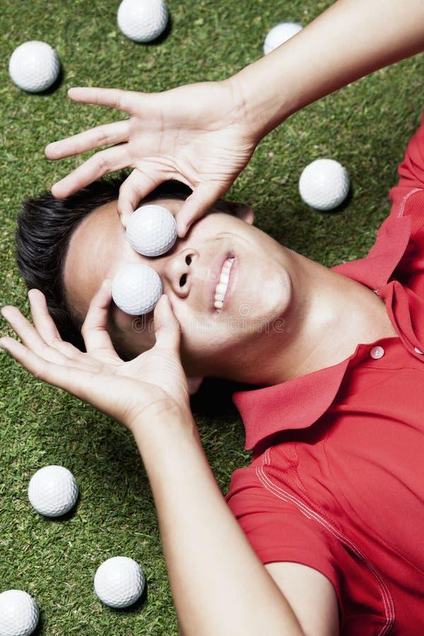 глаза шариков справляются игрок золота стоковые изображения rf