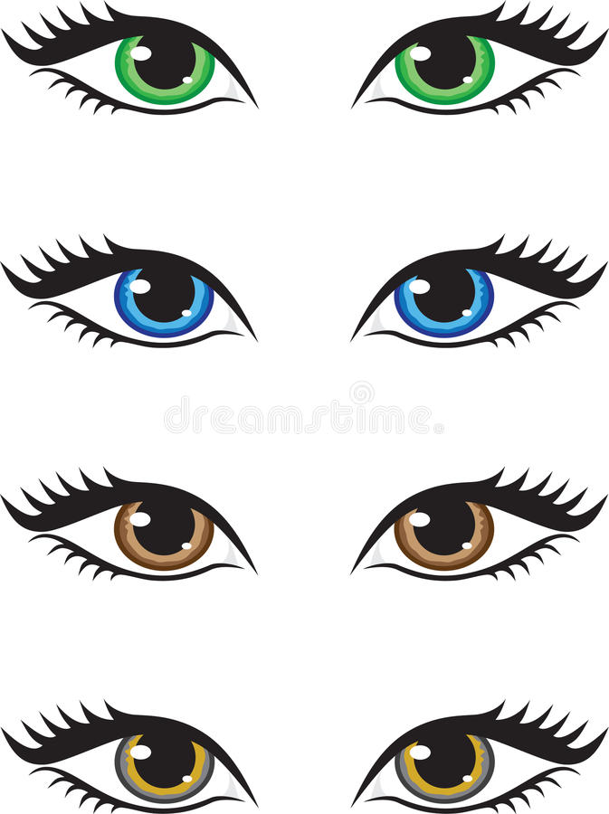 глаза иллюстрация штока
