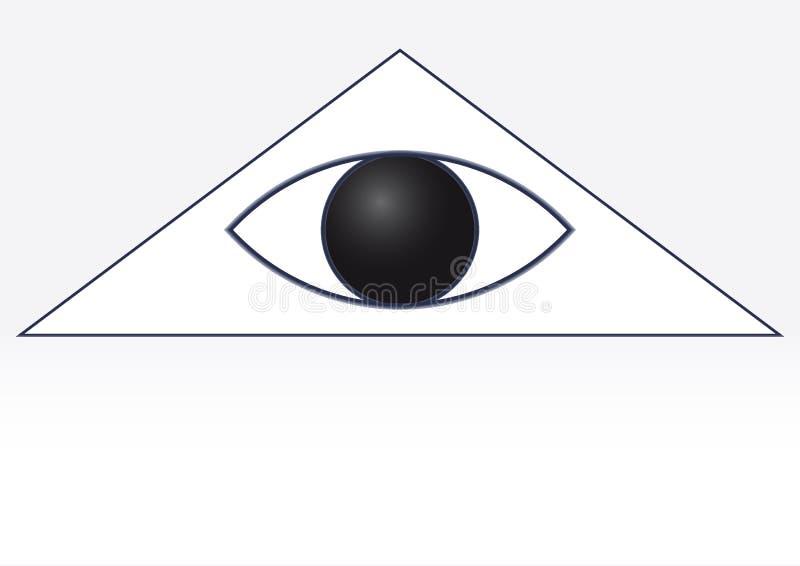 Глаз в белом треугольнике бесплатная иллюстрация