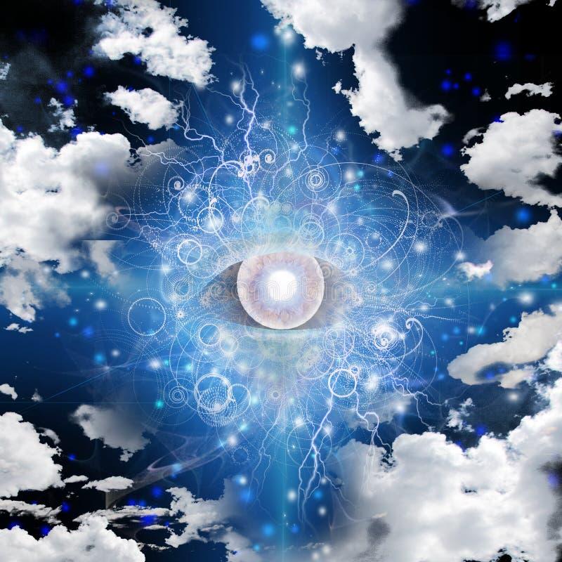 Глаз в небе иллюстрация вектора