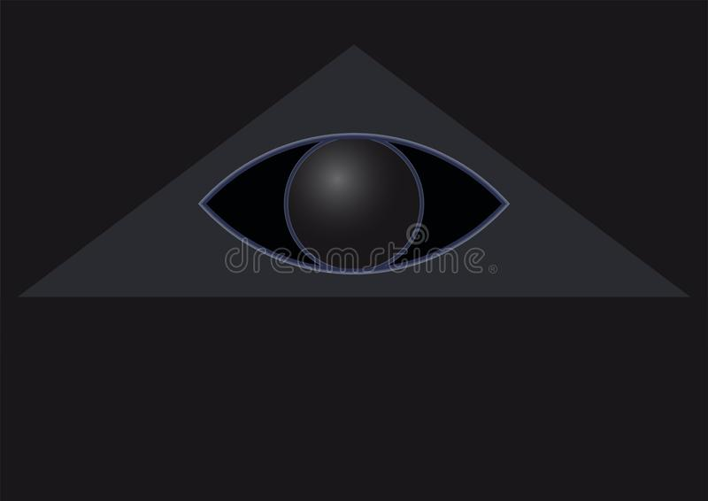 Глаз в треугольнике на черноте бесплатная иллюстрация