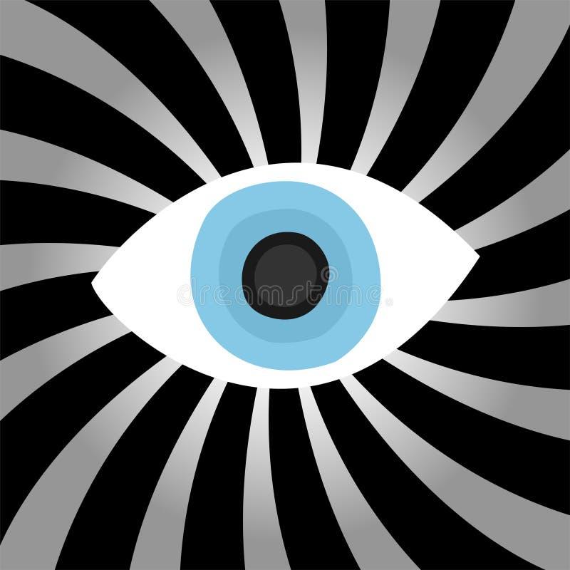 глаз гипнозом иллюстрация вектора