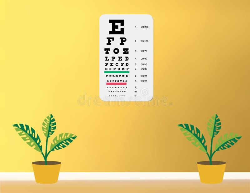 глаз диаграммы snellen иллюстрация вектора