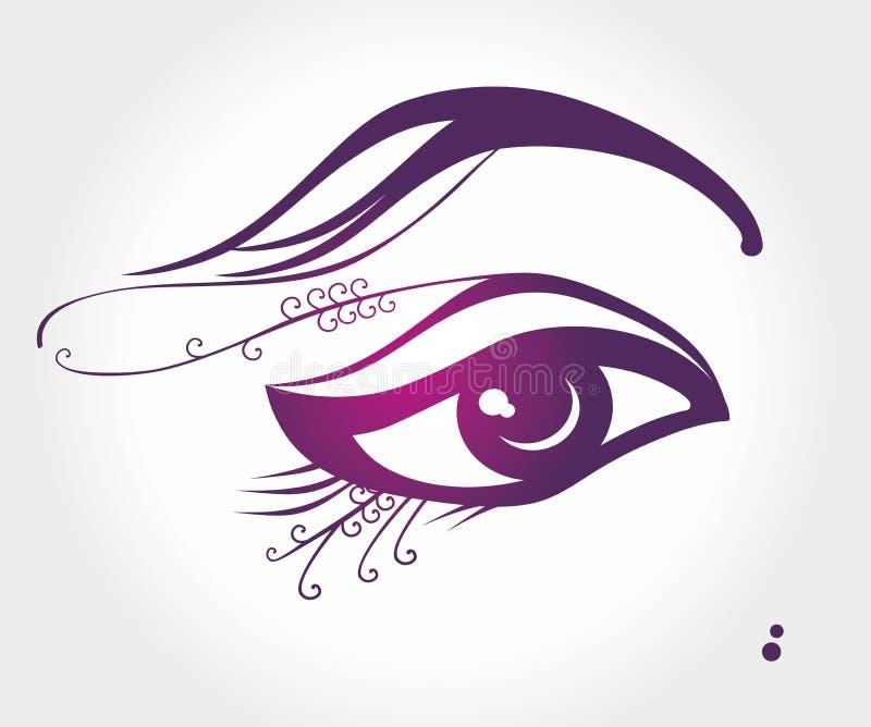 Глаз Иллюстрация вектора макияжа бесплатная иллюстрация