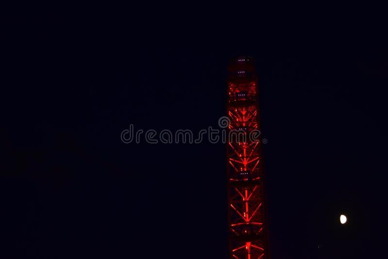 Глаз Лондона вечером стоковое изображение rf