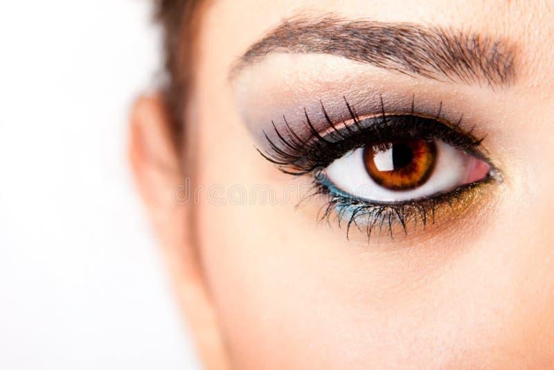 глаз наблюдательный стоковое изображение rf