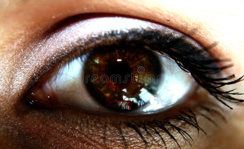 глаз очевидца стоковое изображение