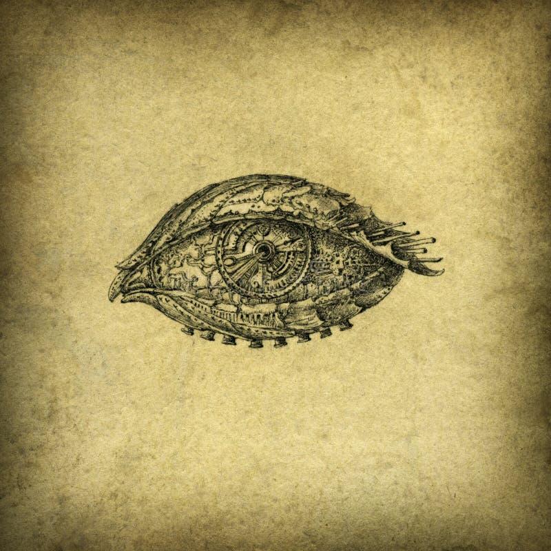 глаз сюрреалистический иллюстрация вектора