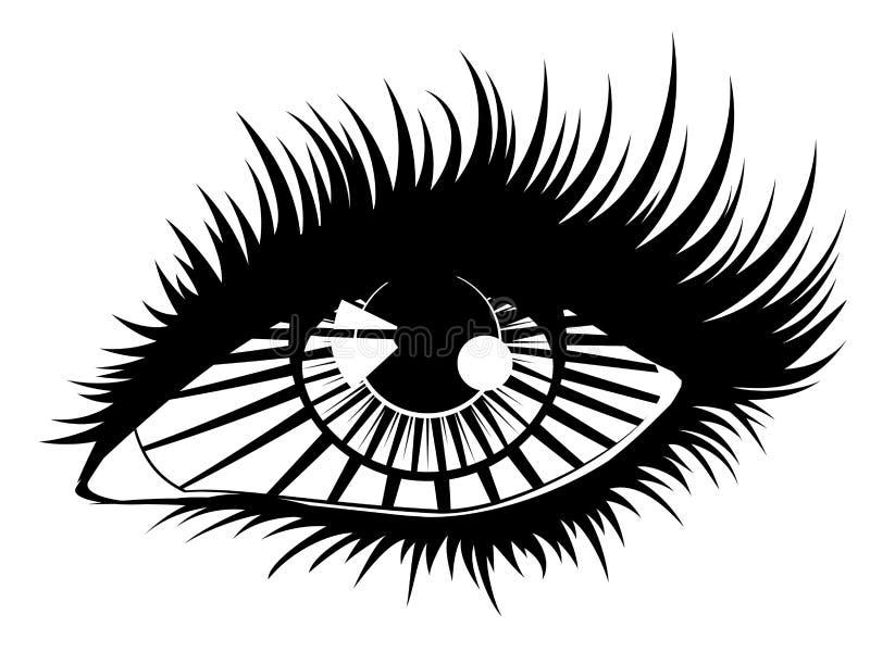 Глаз с лучами иллюстрация штока