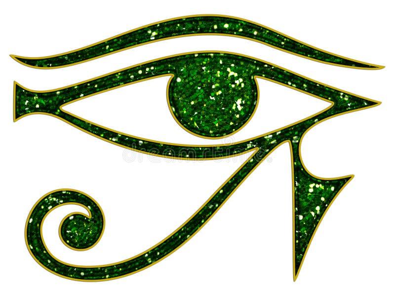 Глаз Horus - обратный глаз Thoth иллюстрация вектора