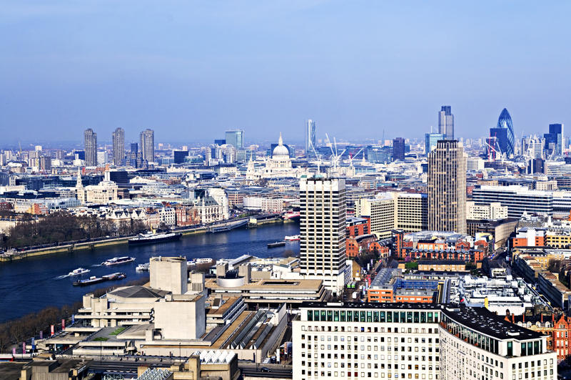 глаз london городского пейзажа стоковая фотография rf