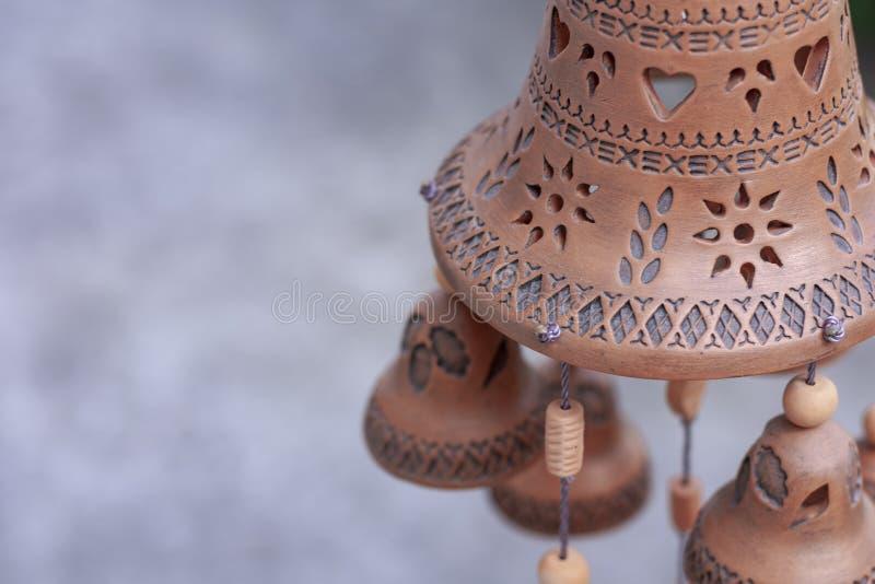 Глина сделала запас объекта выставочного образца дверных звоноков Дуна звона стоковые изображения