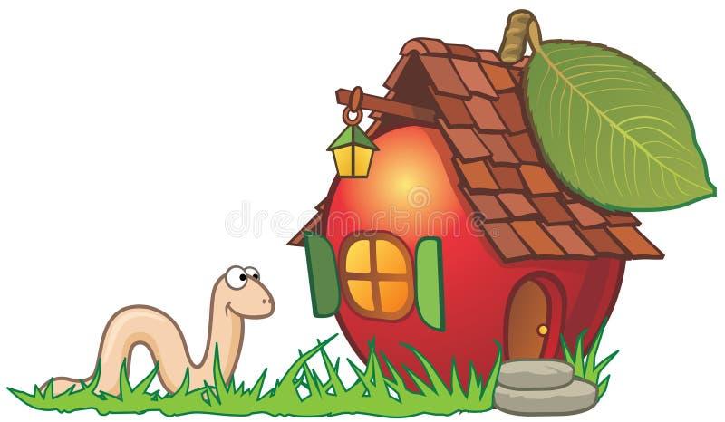 глист дома яблока иллюстрация штока