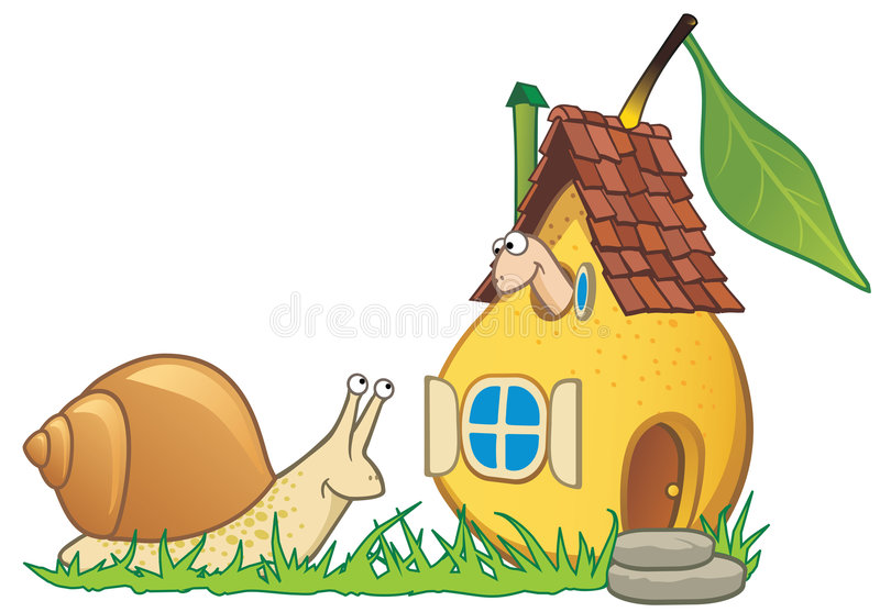 глист улитки груши дома иллюстрация вектора