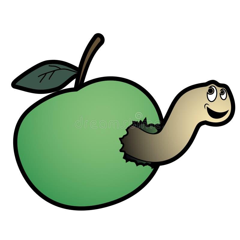 глист яблока иллюстрация вектора