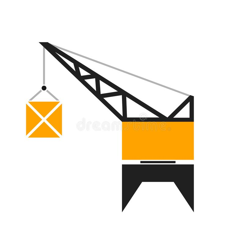 Глиф крана порта иллюстрация вектора