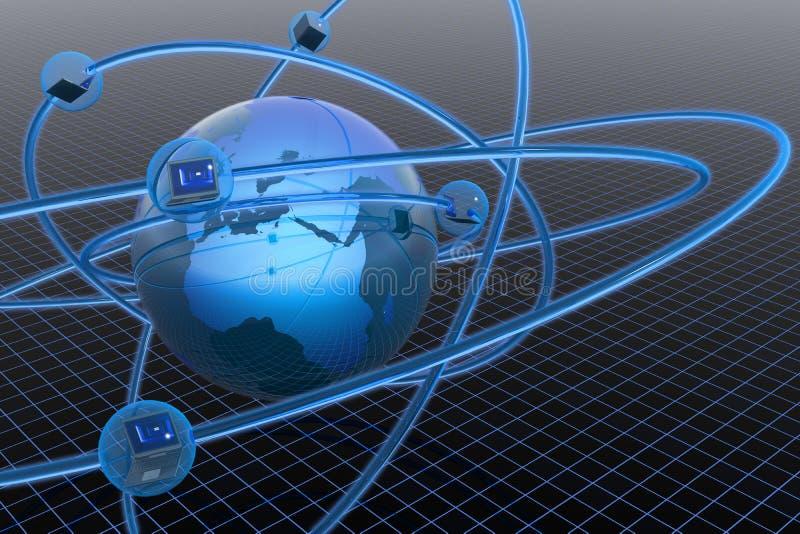 глобальная вычислительная сеть иллюстрация вектора