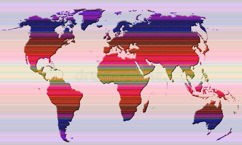 Глобальная карта мира стоковая фотография rf