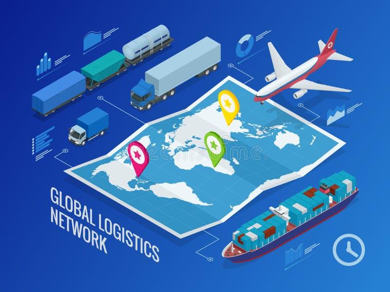 Глобальная сеть снабжения бесплатная иллюстрация
