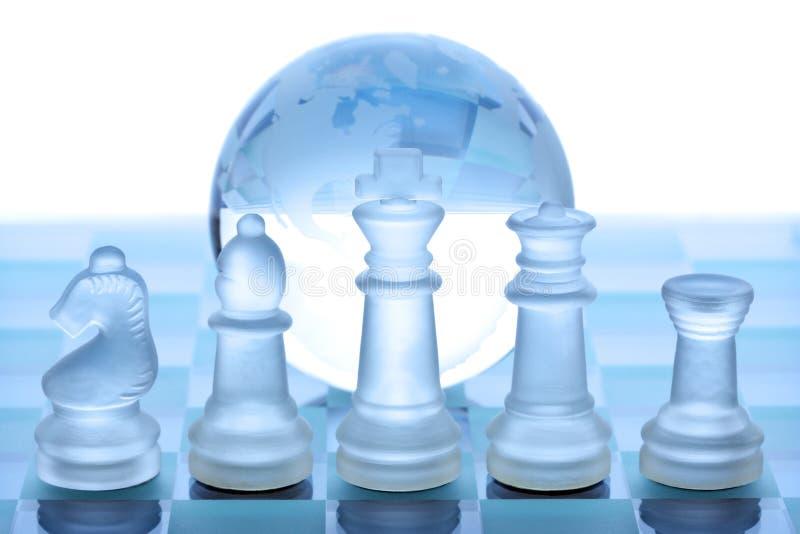 глобальная стратегия принципиальной схемы стоковое изображение