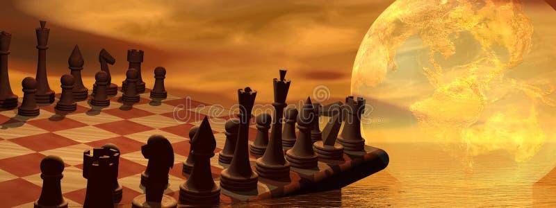 глобальная стратегия шахмат дела иллюстрация вектора