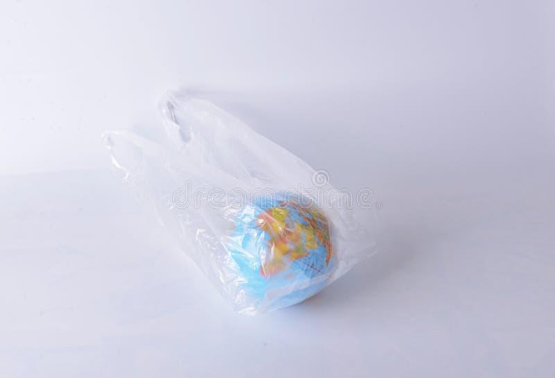 Глобальное потепление мира пластика стоковое фото