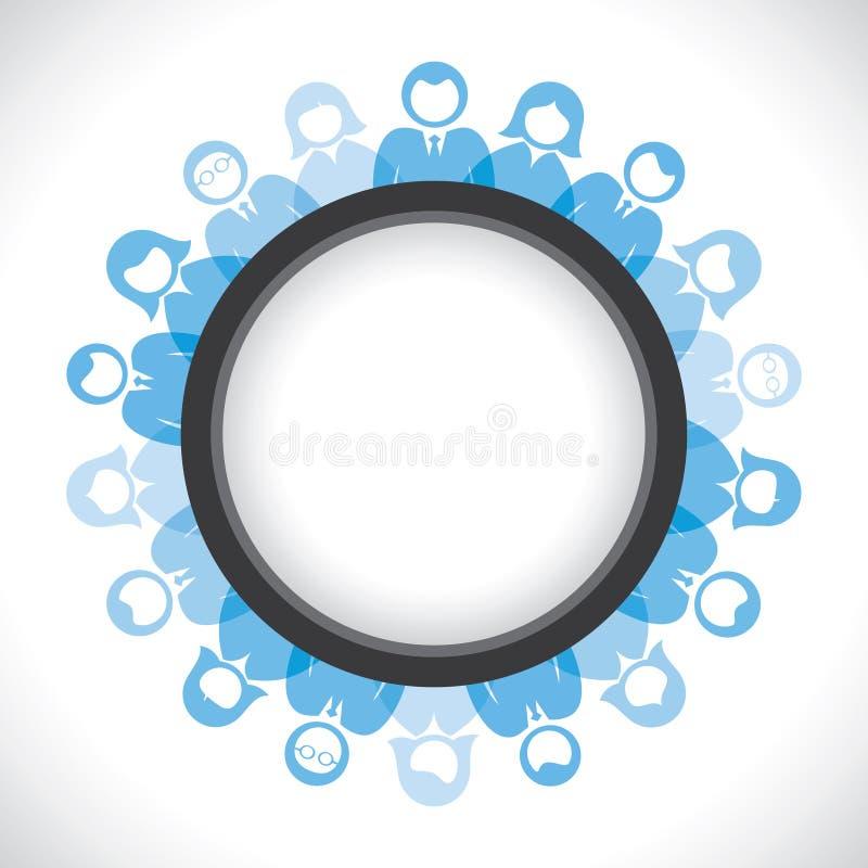 Глобальное соединение людей иллюстрация вектора
