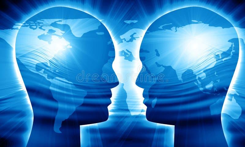 Глобальное сообщение иллюстрация штока