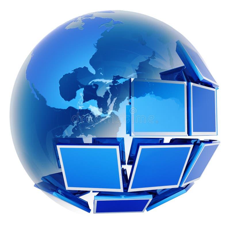 глобальное телевидение иллюстрация штока