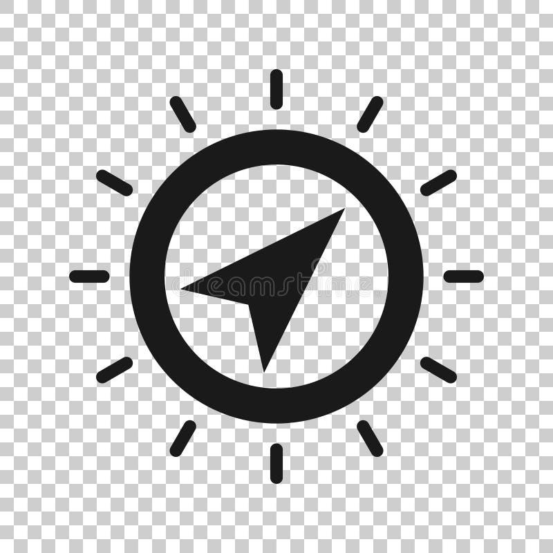 Глобальный значок навигации в прозрачном стиле Иллюстрация вектора gps компаса на изолированной предпосылке Дело открытия положен бесплатная иллюстрация