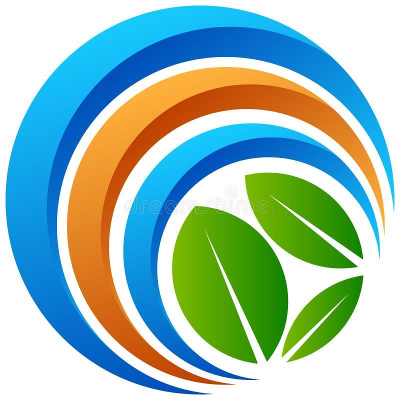 Глобальный логотип дерева на белизне бесплатная иллюстрация