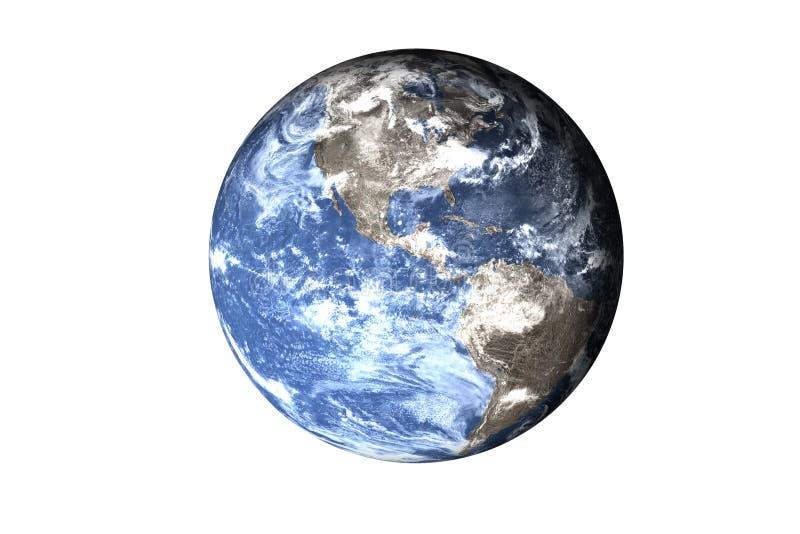 Глобальный охлаждать на изолированной земле планеты солнечной системы Элементы этого изображения поставленные NASA стоковые изображения