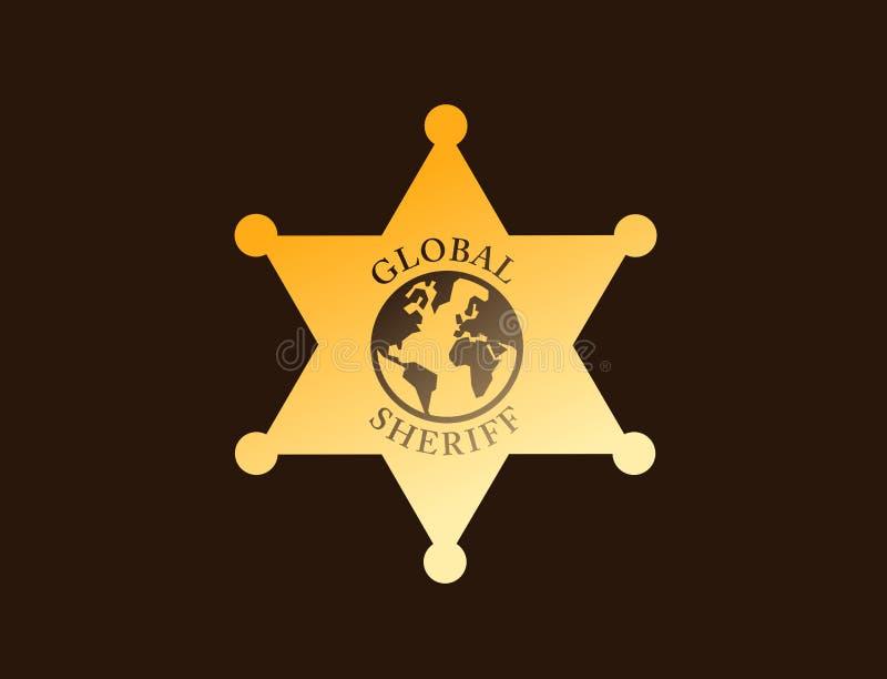 Глобальный шериф иллюстрация вектора