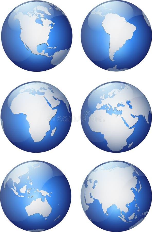 глобусы aqua бесплатная иллюстрация