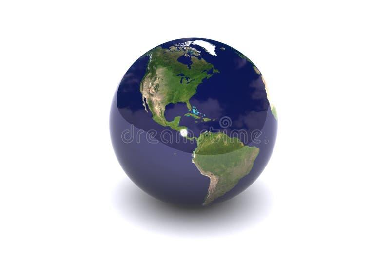 глобус америки изолировал бесплатная иллюстрация