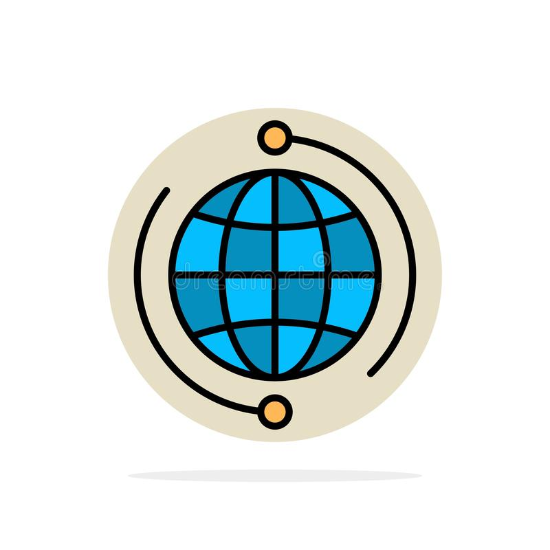 Глобус, дело, соединяется, соединение, глобальное, интернет, значок цвета предпосылки круга конспекта мира плоский бесплатная иллюстрация
