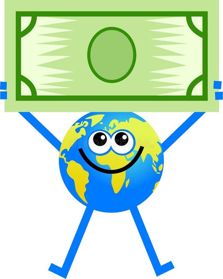 глобус доллара иллюстрация штока