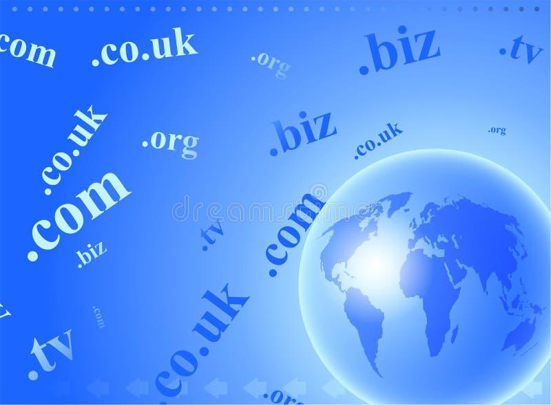 глобус домена иллюстрация штока