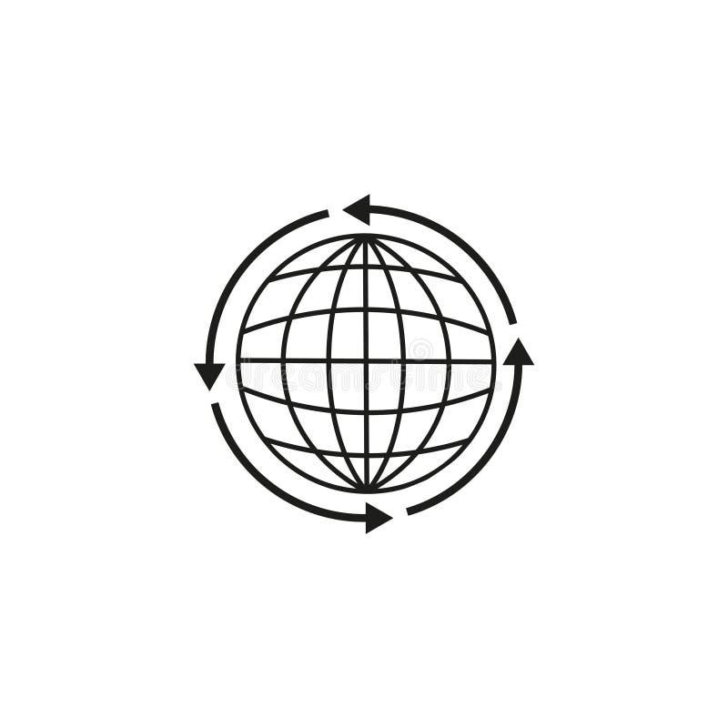 Глобус земли вокруг значка бесплатная иллюстрация