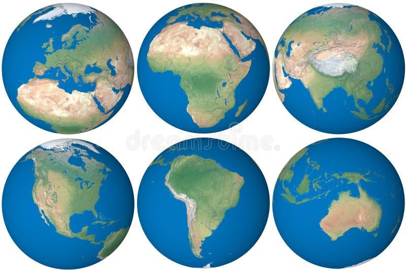 глобус земли иллюстрация вектора