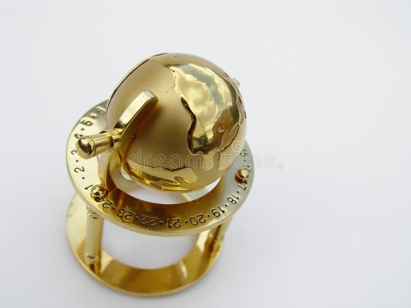 глобус золотистый стоковые фотографии rf