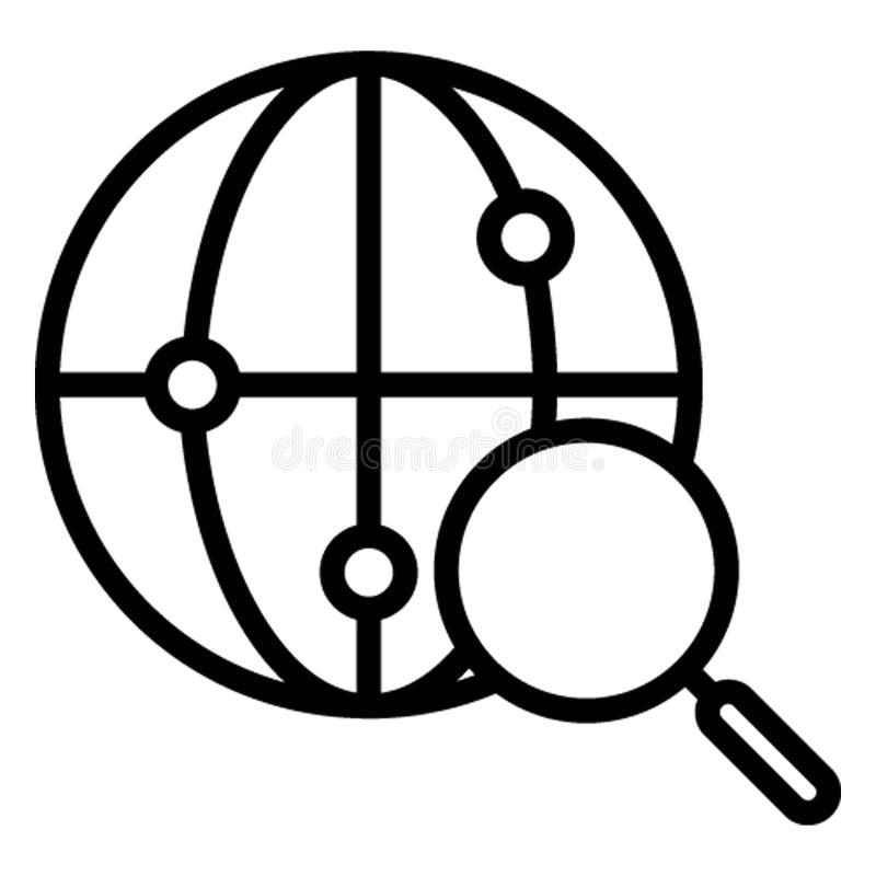 Глобус изолировал значок вектора который может легко доработать иллюстрация штока