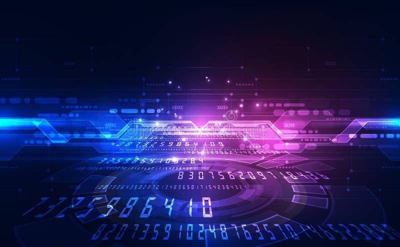 Глобус на предпосылке цифровой технологии, абстрактная иллюстрация вектора голубой иллюстрация вектора