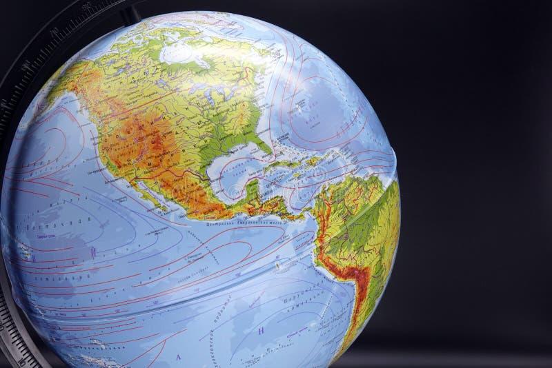 Глобус на темной предпосылке  стоковая фотография rf