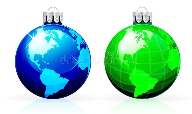 глобус рождества шариков иллюстрация штока