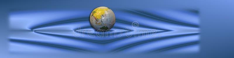 глобус сини знамени стоковое изображение rf