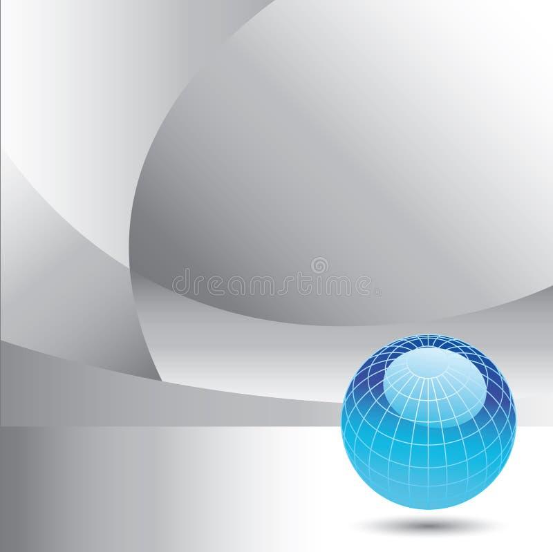 глобус сини предпосылки иллюстрация вектора