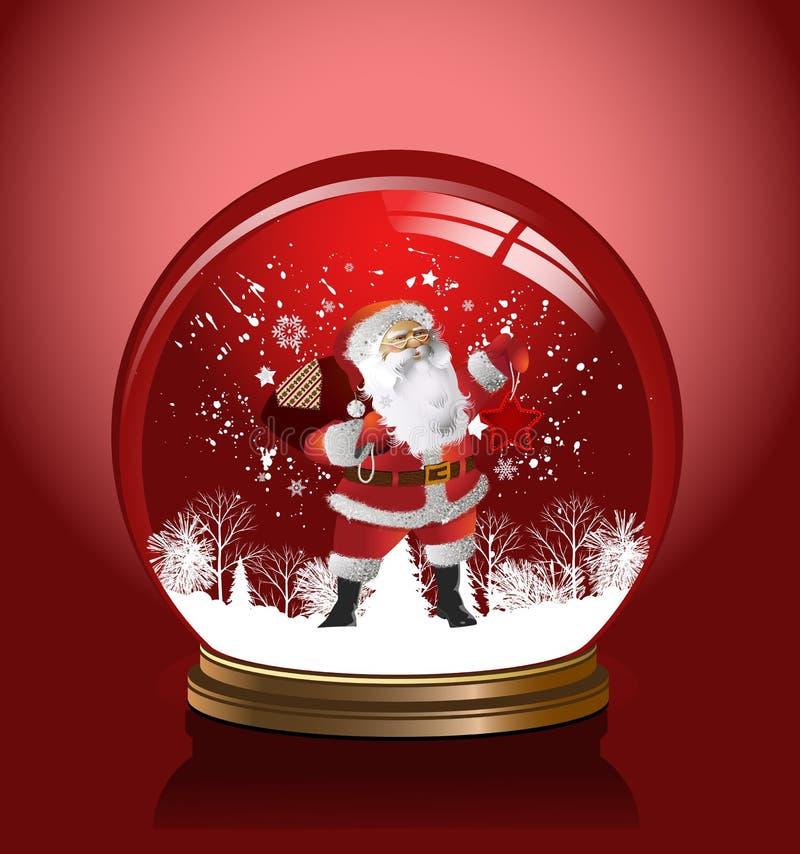 Глобус снежка вектора. иллюстрация штока