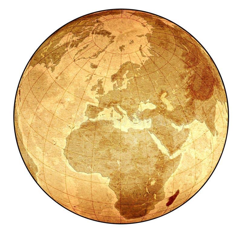 глобус старый стоковое фото rf