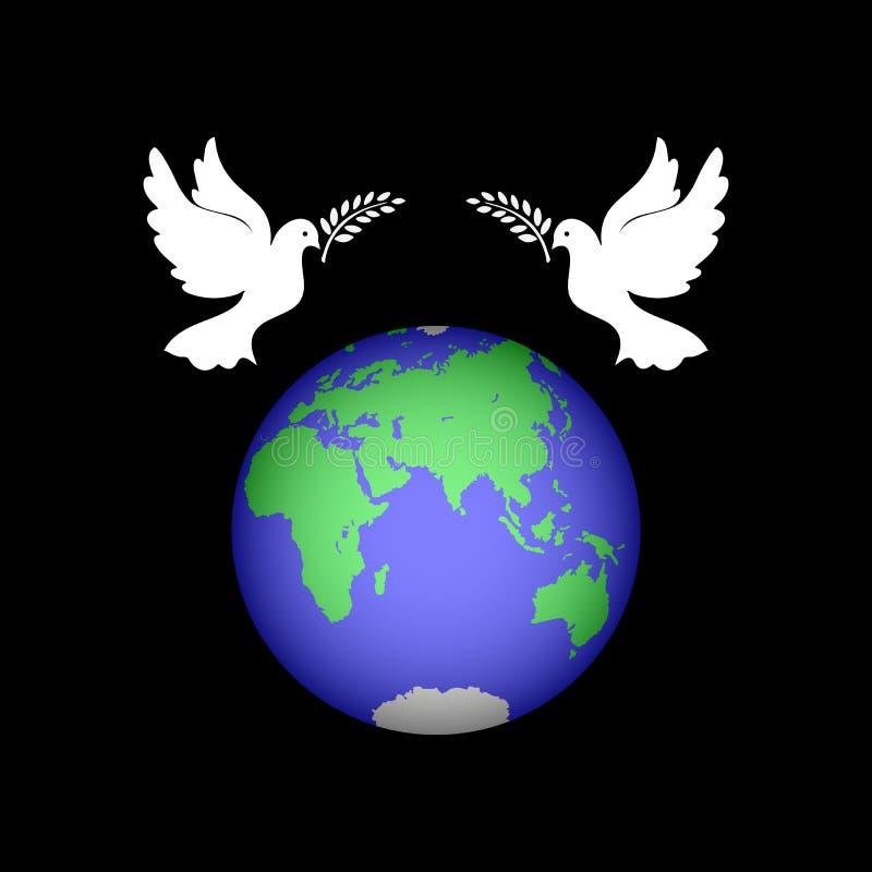 символ мира голубь и шар земной картинки оставили большой